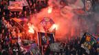 FCB-Fans am Spiel vom 20. März in Salzburg.