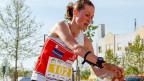 Judith Wyder bei einem Finallauf an den OL Europameisterschaften in Portugal.