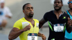 Tyson Gay und Justin Gatlin am 21. Juni 2013 in Des Moines, Iowa.