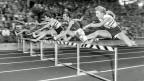 80-Meter-Hürdenrennen an der Leichtathletik-Europameisterschaft von 1954 in Bern.