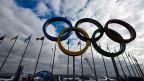 Die Olympischen Ringe bei den Winterspielen in Sotschi.