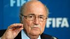 Sepp Blatter an einer Pressekonferenz in Marrakesch am 19. Dezember 2014.