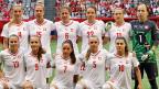 Gruppenbild mit elf Frauen: Die Schweizer-Frauen-Fussballnati vor dem Spiel gegen die Kanadierinnen.