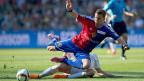 Fabian Frei vom FCB im Kampf um den Ball mit Nico Elvedi vom FCZ. Beide Spieler spielen bald für die deutsche Bundesliga.