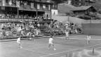 Doppel der Herren im Center Court am Tennis Swiss Open 1958 in Gstaad, Juli 1958