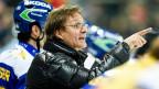 HC-Davos-Trainer Arno Del Curto an einem Meisterschaftsspiel gegen die Rapperswil-Jona-Lakers