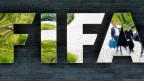 Logo am Fifa-Gebäude in Zürich.
