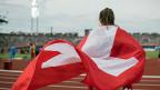 Hürdenläuferin Lea Sprunger in Amsterdam – nicht nur sie hat starke Leistungen für die Schweiz erbracht.