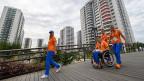 Noch immer gibt es zu viele Barrieren für Behinderte in Brasilien. Eine der Ausnahmen bildet das Olympische Dorf.