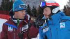 Der norwegische Speed-Trainer mit seiner Medaillenhoffnung Kjetil Jansrud