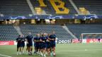 Der Fussballclub Dinamo Zagreb trainiert im Wankdorf-Stadion.