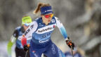 Laurien van der Graaff beim 10-km-Langlauf-Massenstart der Frauen der FIS Tour de Ski in Lenzerheide.