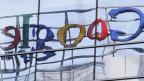Verschwommenes Google-Logo.