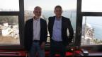 Den beiden deutschen Journalisten Thomas Seibert (links) und Jörg Brase wurde die Akkreditierung verweigert.