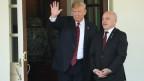 Bundespräsident Ueli Maurer mit Donald Trump im Weissen Haus.