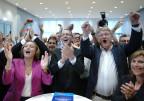 Jubeln bei der AfD: Die Partei erzieht in Sachsen ihr bestes Ergebnis bei einer Landtagswahl überhaupt.