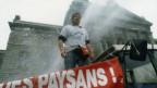 15'000 Bauern - und viel Tränengas: Bauerndemo 1996.