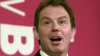 Tony Blair energiegeladen - zwei Wochen vor seinem Wahlsieg