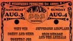 Das Plakat zum Newport Pop Festival 1968