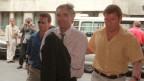 Werner K. Rey wird im Juni 1998 ins Berner Amtshaus zu seinem ersten Verhör auf Schweizer Boden geführt.