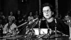 US-Wissenschafterin und Schriftstellerin Rachel Carson drängt den US-Kongress 1963 dazu, den Verkauf und die Verwendung von chemischen Pestiziden einzudämmen.