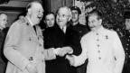 Demonstrierte Einigkeit: Churchill, Truman und Stalin 1945 in Potsdam