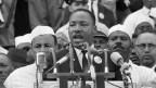 "King hält seine Rede ""I have a dream"" am 28. August 1963 in Washington D.C."
