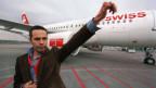 Designer Tyler Brûlé vor dem ersten Swiss-Flieger