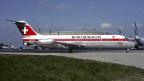 Eine solche DC-9 der Swissair wurde im April 1972 entführt