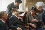 Chinas Präsident Jiang Zemin bei seinem Besuch in der Schweiz