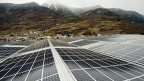 Photovoltaik-Anlage bei Saxon im Wallis.