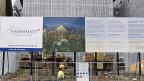 Das im Bau befindliche Hotel Chedi in Andermatt; es ist Teil des Tourismusprojekts «Andermatt Swiss Alps».