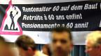 Am 13. April 2013 fand bei der Gewerkschaft Bau und Industrie eine Abstimmung statt - über die Pensionierung der Bauarbeiter ab 60 Jahren.