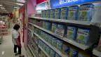Babynahrung von Nestlé in einem Laden in Peking.