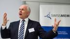 Swissmem-Präsident Hans Hess sieht einen Lichtschimmer für seine Branche.