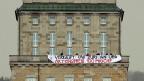 Protest von Juso-Mitgliedern gegen das Engagement der UBS am Institut für Volkswirtschaftslehre der Uni Zürich.