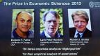 Der Wirtschafts-Nobelpreis 2013 geht an drei US-Ökonomen: Eugene F. Fama, Lars Peter Hansen und Robert J. Shiller.