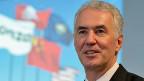 Lonza-Chef Richard Ridinger an der Jahres-Medienkonferenz in Basel.