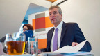 Economiesuisse-Präsident Heinz Karrer an der Jahres-Medienkonferenz in Bern.