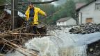 Die Prognosen sind düster:  Die Anzahl der Naturkatastrophen dürfte weiter zunehmen - und auch die Schäden dürften wieder steigen. Bild: Die Ortschaft Montoggio bei Genua nach einem Unwetter im letzten Oktober.