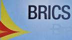 Der Schriftzug BRICS steht für Brasilien, Russland, Indien, China und Südafrika.