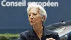IWF-Chefin Christine Lagarde in Brüssel. Könnte der IWF ein Interesse haben an einer dauerhaften Verschuldung Griechenlands?