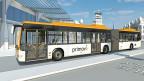 Die Batterie der neuen Bombardier-Busse lädt sich quasi über die Luft auf – sobald der Bus auf ein elektromagnetisches Feld fährt, das sich unter der Haltestelle befindet.