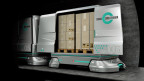 Computerillustration von Cargo Containern für den unterirdischen Versand von Waren.