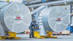 ABB-Turbolader für Schiffsmotoren.