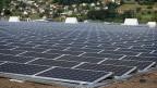 Solarkraftwerk in Neuendorf, Kanton Solothurn.