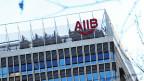 Der Hauptsitz der asiatischen Infrastruktur-Investment-Bank (AIIB) in Peking, China.