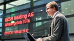 Jörg Wolle am 7. Februar 2017 an der Bilanz-Medienkonferenz der DKSH Holding AG. Das Kürzel DKSH steht für DiethelmKeller und SiberHegner.