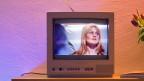TV-Gerät in einem Wohnzimmer.