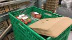 Die Lebensmittel werden entsprechend verpackt.